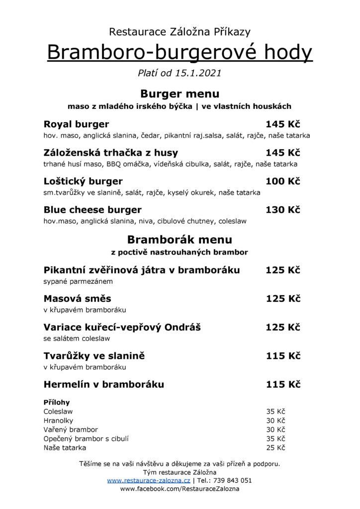 Bramboráko hamburgerové hody